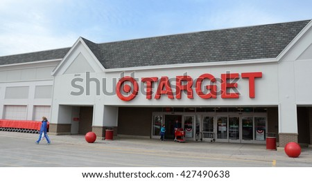 ANN ARBOR, MI - JANUARY 30: Target, whose Ann Arbor store is shown on January 30, 2016, has close to 1,800 stores.  - stock photo