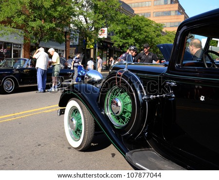 ANN ARBOR, MI - JULY 13: Chrysler Six at the Rolling Sculpture car show July 13, 2012 in Ann Arbor, MI. - stock photo