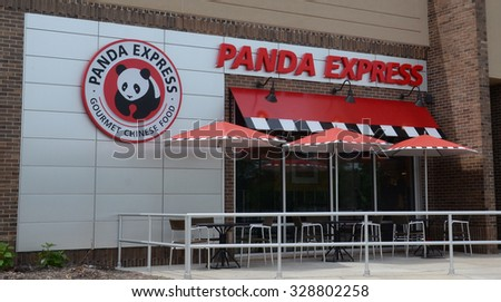 ANN ARBOR, MI - JUNE 7: Panda Express, whose Ann Arbor store is shown on June 7, 2015, has 1,800 stores worldwide.  - stock photo