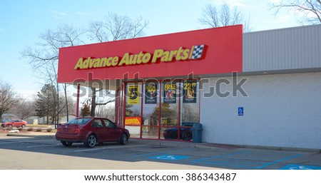 ANN ARBOR, MI - MARCH 1:  Advance Auto Parts, whose Ann Arbor, MI location is shown on March 1, 2016, has over 5,000 stores.