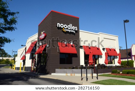 ANN ARBOR, MI - SEPTEMBER 7: Noodles, whose west Ann Arbor store is shown on September 7, 2014, has over 400 locations in 31 states.