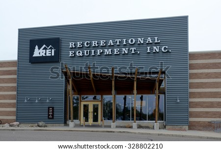 ANN ARBOR, MI - SEPTEMBER 7: REI, whose Ann Arbor store is shown on June 7, 2015, has over 140 stores in 33 states. - stock photo