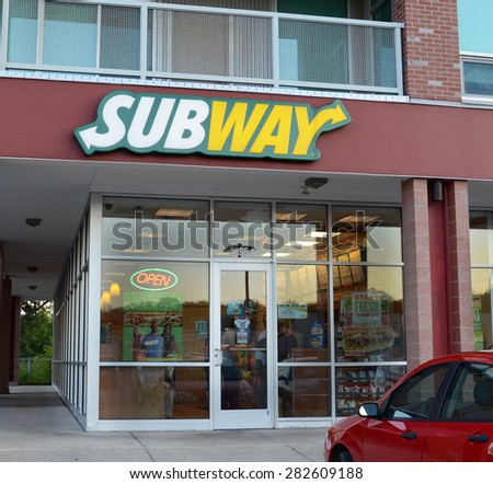 ANN ARBOR, MI - SEPTEMBER 2:  Subway whose Ann Arbor, MI store is shown on September 2, 2014, has over 43,000 restaurants in 108 countries.