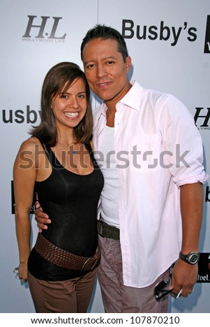 "Anna Alvim and Yancy Arias  at ""Ante Up For The Arts"" Celebrity Poker Night Benefitting Notre Dame High School. Busby's East, Los Angeles, CA. 05-18-08"