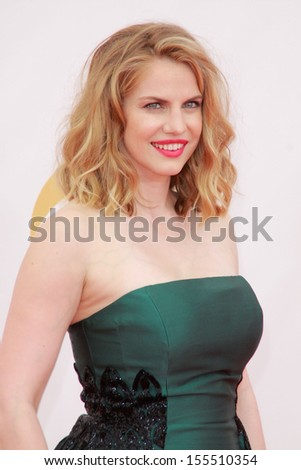 Anna Chlumsky at the 65th Primetime Emmy Awards at the Nokia Theatre, LA Live. September 22, 2013  Los Angeles, CA