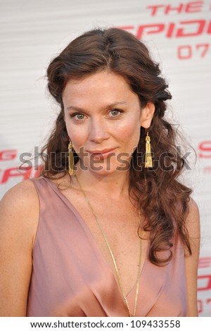 """Anna Friel at the world premiere of """"The Amazing Spider-Man"""" at Regency Village Theatre, Westwood. June 29, 2012  Los Angeles, CA Picture: Paul Smith / Featureflash - stock photo"""