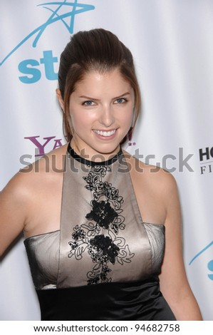 Anna Kendrick at the Hollywood Film Festival's 11th Annual Hollywood Awards at the Beverly Hilton Hotel. October 23, 2007  Los Angeles, CA Picture: Paul Smith / Featureflash