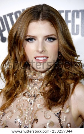 """Anna Kendrick at the Los Angeles premiere of """"Pitch Perfect"""" held at the ArcLight Cinemas in Los Angeles, United States on September 24, 2012. - stock photo"""