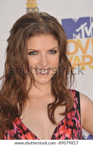 Anna Kendrick at the 2010 MTV Movie Awards at the Gibson Amphitheatre, Universal Studios, Hollywood. June 6, 2010  Los Angeles, CA Picture: Paul Smith / Featureflash