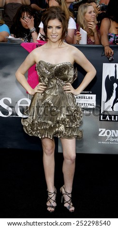 "Anna Kendrick at the ""The Twilight Saga: Eclipse"" Los Angeles Premiere held at the Nokia Live Theater in Los Angeles, California, United States on June 24, 2010.  - stock photo"