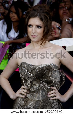 """Anna Kendrick at the """"The Twilight Saga: Eclipse"""" Los Angeles Premiere held at the Nokia Live Theater in Los Angeles, California, United States on June 24, 2010.  - stock photo"""