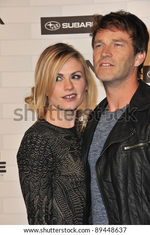 Anna Paquin & husband Stephen Moyer at Spike TV's 2010 Scream Awards at the Greek Theatre, Griffith Park, Los Angeles. October 16, 2010  Los Angeles, CA Picture: Paul Smith / Featureflash