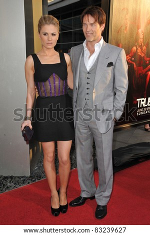 "Anna Paquin & Stephen Moyer at the Los Angeles premiere of the fourth season of HBO's ""True Blood"" at the Cinerama Dome, Hollywood. June 21, 2011  Los Angeles, CA Picture: Paul Smith / Featureflash"