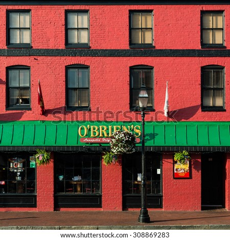 ANNAPOLIS, MARYLAND - JULY 19: O'Brien's Oyster Bar & Restaurant on Main Street on July 19, 2015 in Annapolis, Maryland