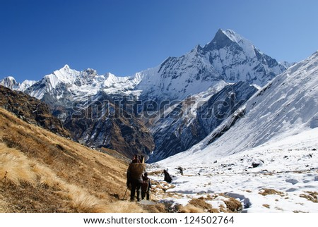 Annapurna, Nepal - stock photo