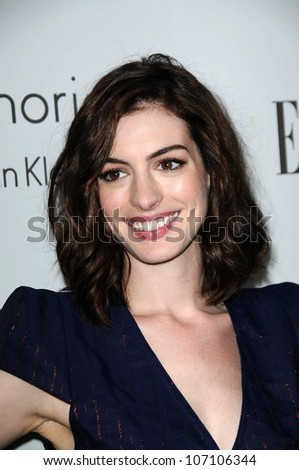 Anne Hathaway  at ELLE Magazine's 15th Annual Women in Hollywood Event. Four Seasons Hotel, Beverly Hills, CA. 10-06-08
