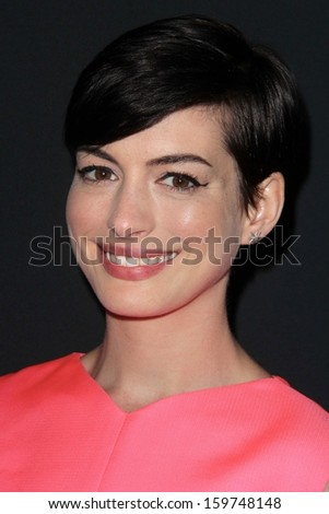 Anne Hathaway at the Pink Party 2013, Hangar 8, Santa Monica, CA 10-19-13 - stock photo