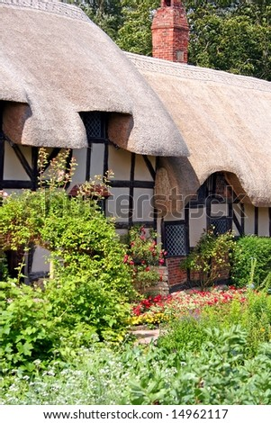 Anne Hathaway (wife of Shakespeare) Cottage, Stratford - stock photo