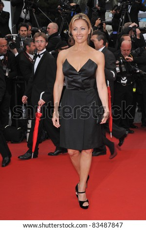 "Anne-Sophie Lapix at the premiere of Woody Allen's ""You Will Meet A Tall Dark Stranger"" at the 63rd Festival de Cannes. May 15, 2010  Cannes, France Picture: Paul Smith / Featureflash"