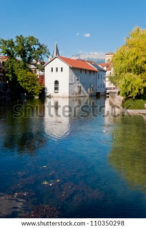 Annecy, France, village view