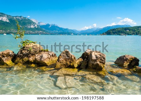 Annecy lake and landscape