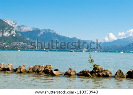Annecy lake landscape, Savoy, France