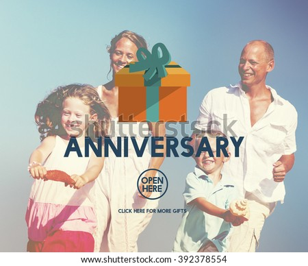 Anniversary Celebrate Annual Enjoy Event Memory Concept - stock photo