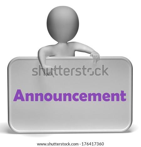 Announcement  - stock photo