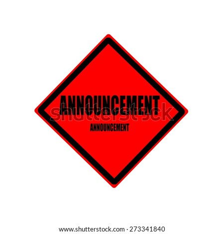 Announcement black stamp text on red background - stock photo