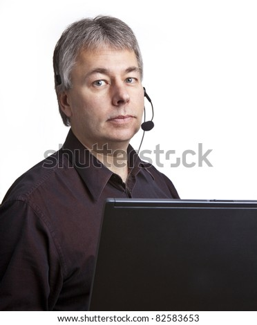 Annoyed businessman - stock photo