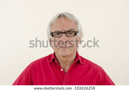 Annoyed upset Senior man. - stock photo