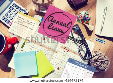 Annual Leave Schedule Planning To Do List Concept - stock photo