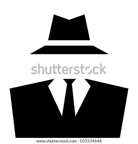 Anonymous invisible man whit suit and hat. - stock photo