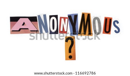 Anonymous Made Cutout Magazine Newspapers Fonts Stock Photo ...