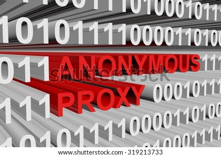 anonymous proxy is presented in the form of binary code