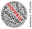 anorexia info text graphic and arrangement concept on white background - stock photo