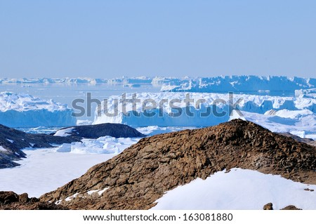 Another Antarctic landscapes. Snow & snow. - stock photo