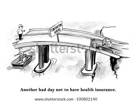 another bad day not to have health insurance - stock photo