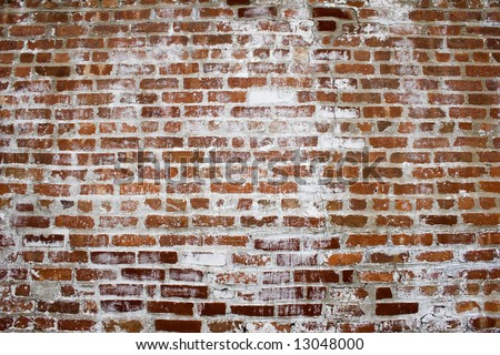 Another Brick in the Wall Background image of bricks and white wash