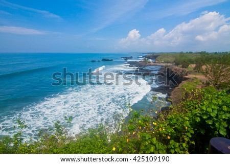 Another Side of Tanah Lot Temple Bali Indonesia  - stock photo