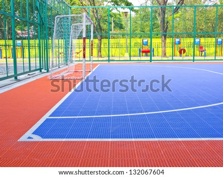 Another view field for futsal Prior to the Match. - stock photo