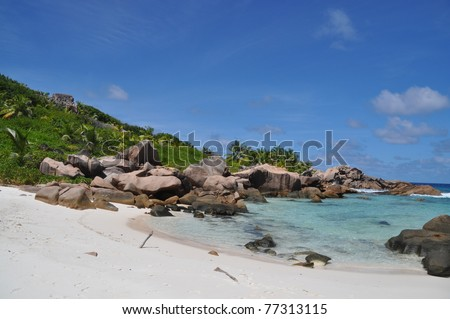 Anse Coco. Most beautiful beach at La digue, Seychelles