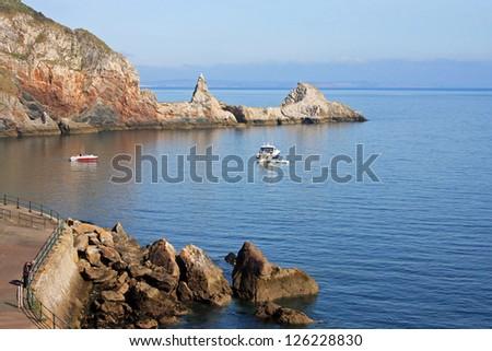 Ansteys Cove, Torquay - stock photo