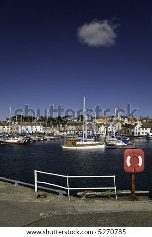 Anstruther Harbour, Fife, Scotland - stock photo