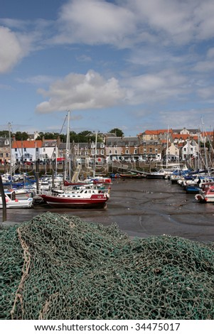 Anstruther  is a small town in Fife, Scotland. - stock photo