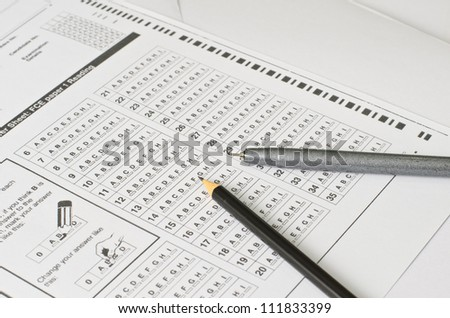 Answer Sheet and pencil