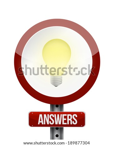 answer sign illustration design over a white background - stock photo
