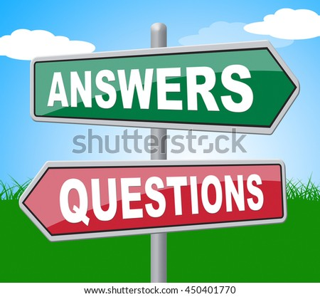 Answers Questions Representing Assistance Knowledge And Knowhow - stock photo