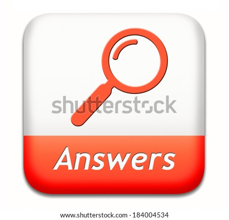 answers search answer on the questions, solve problems and find solution. result of a poll - stock photo