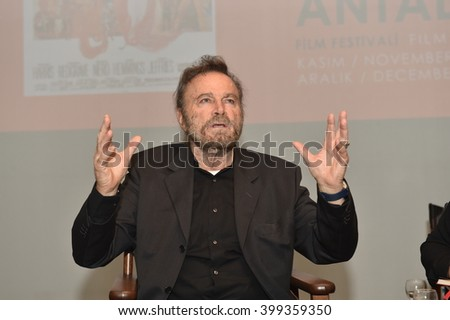 ANTALYA,TURKEY - NOV 28: Actor Franco Nero Portrait on November 28, 2015 in Antalya, Turkey.